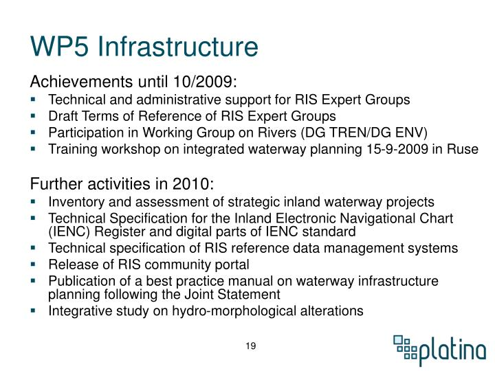 WP5 Infrastructure