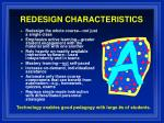 redesign characteristics