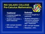rio salado college pre calculus mathematics