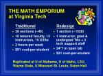 the math emporium at virginia tech