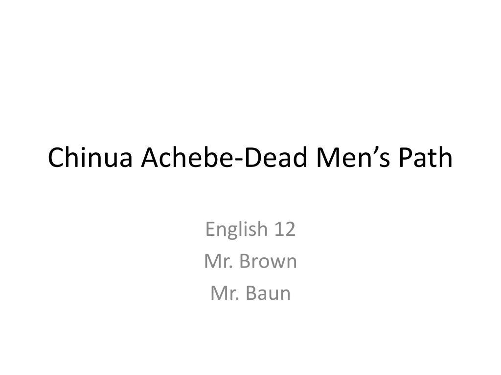 chinua achebe dead