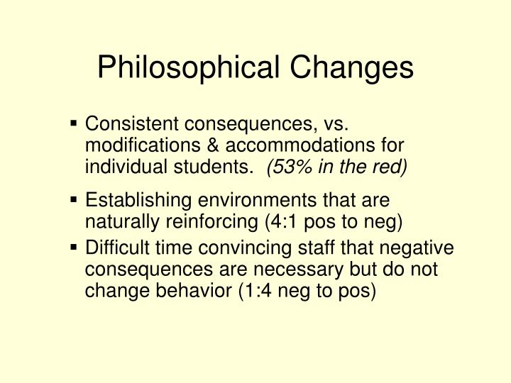 Philosophical Changes