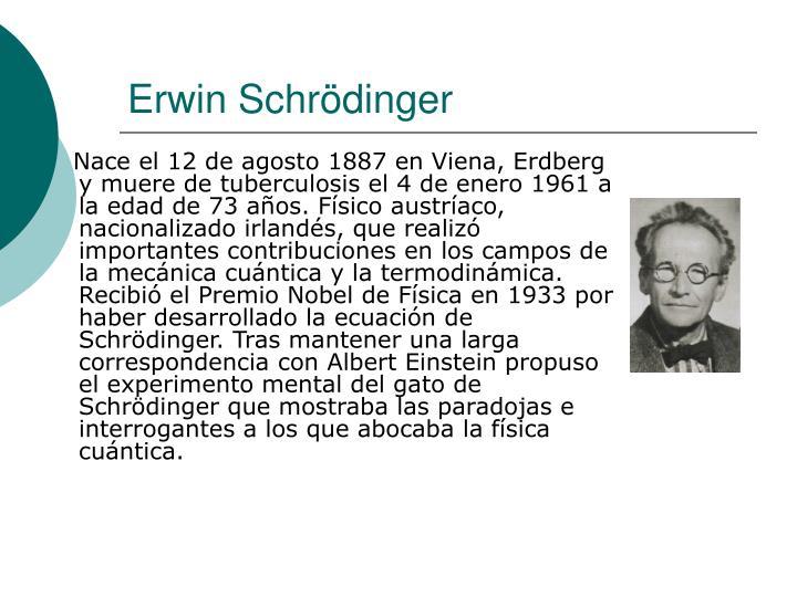 Erwin schr dinger