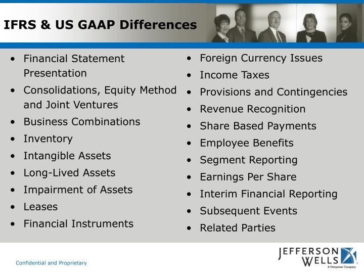 IFRS & US GAAP Differences