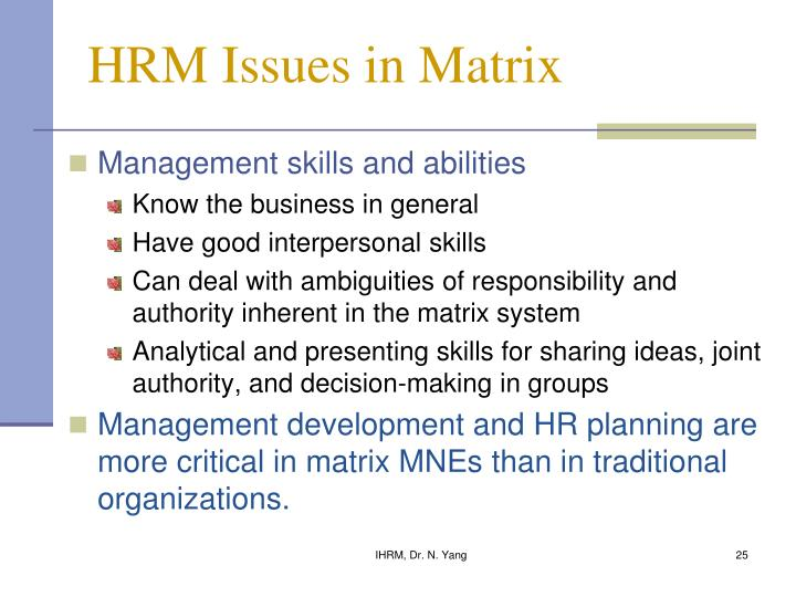 hrm issues