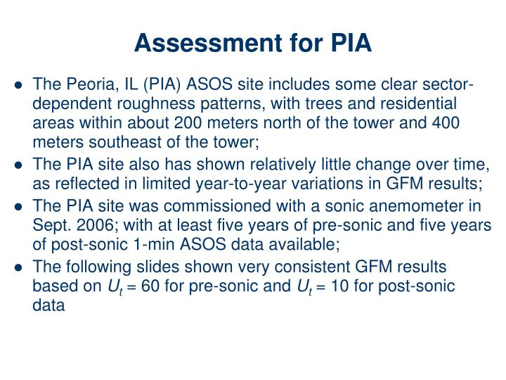 Assessment for PIA