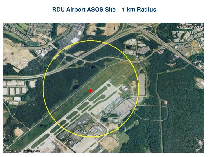 RDU Airport ASOS Site – 1 km Radius