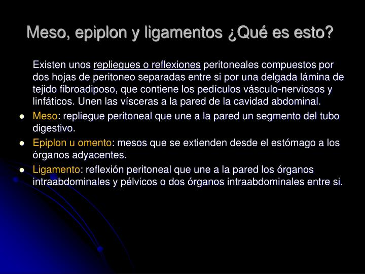 PPT - ANATOMÍA DEL PERITONEO PowerPoint Presentation - ID:6634252