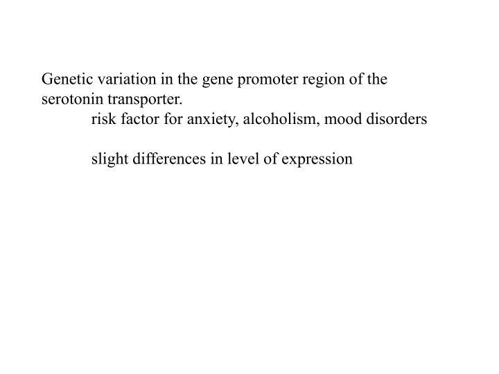 Genetic variation in the gene promoter region of the