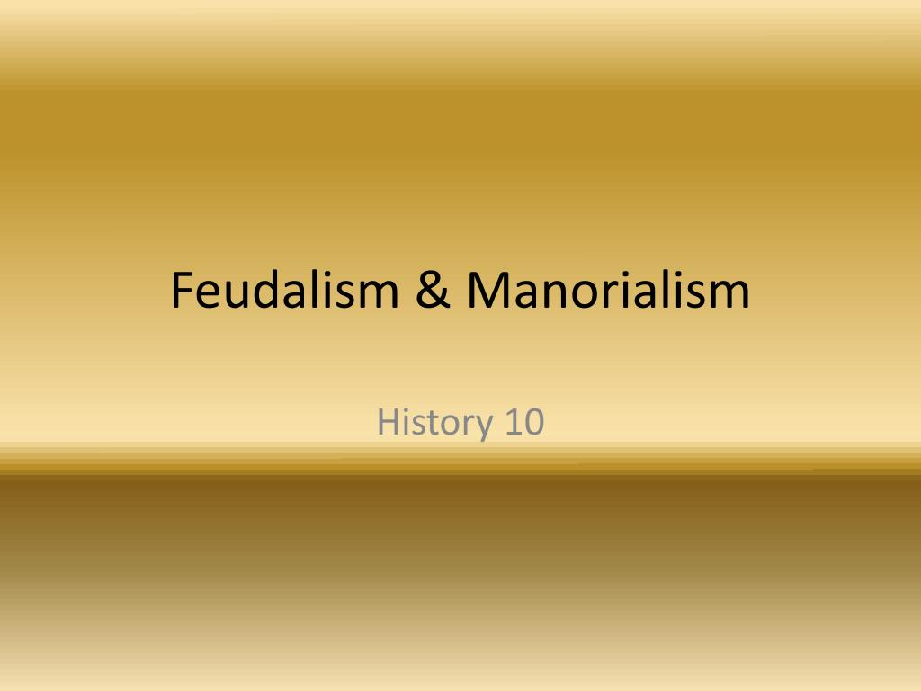 manorialism in the middle ages