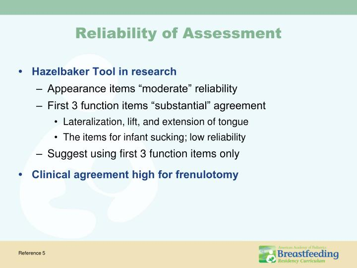 Reliability of Assessment