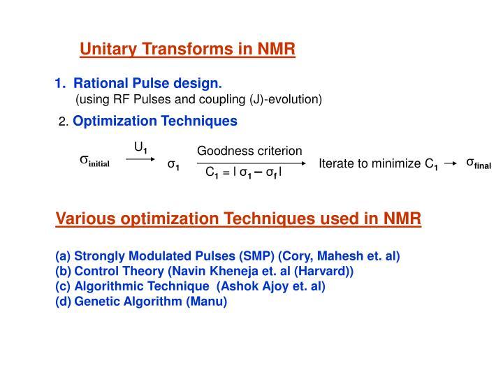 Unitary Transforms in NMR