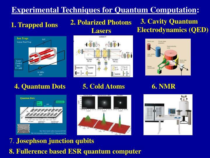 Experimental Techniques for Quantum Computation