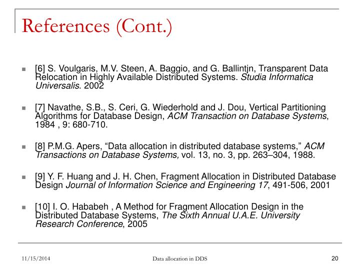 References (Cont.)