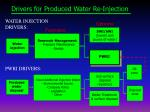 drivers for produced water re injection