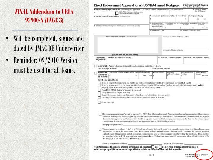 fha loan underwriting and transmittal summary form