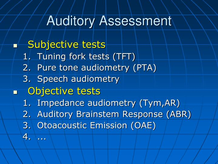Auditory assessment1