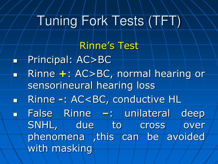 Tuning Fork Tests (TFT)