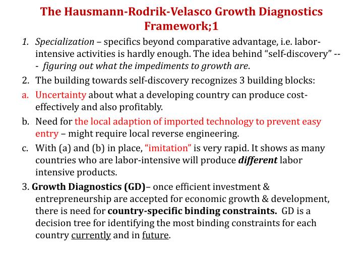 The hausmann rodrik velasco growth diagnostics framework 1