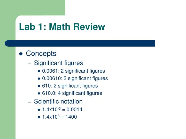 Lab 1 math review