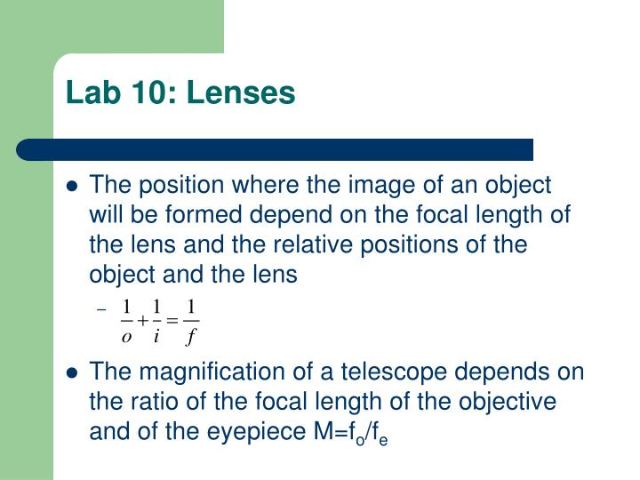 Lab 10: Lenses