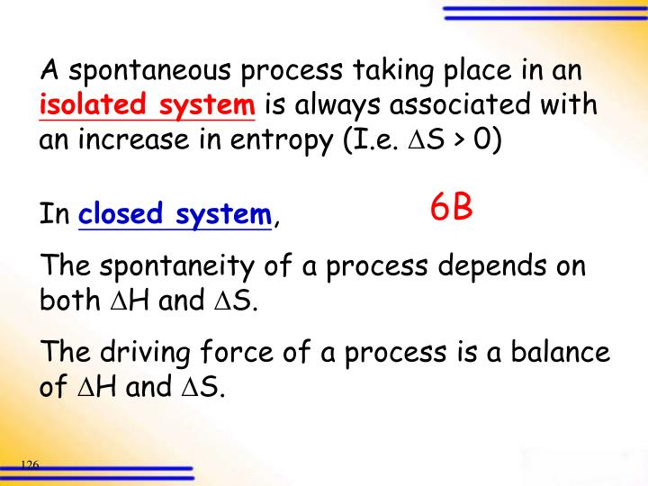 A spontaneous process taking place in an