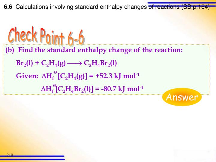 (b)  Find the standard enthalpy change of the reaction: