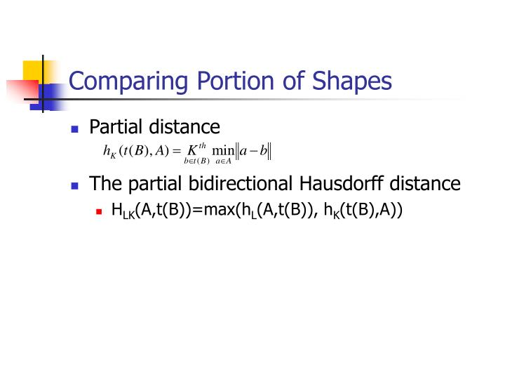 Comparing Portion of Shapes
