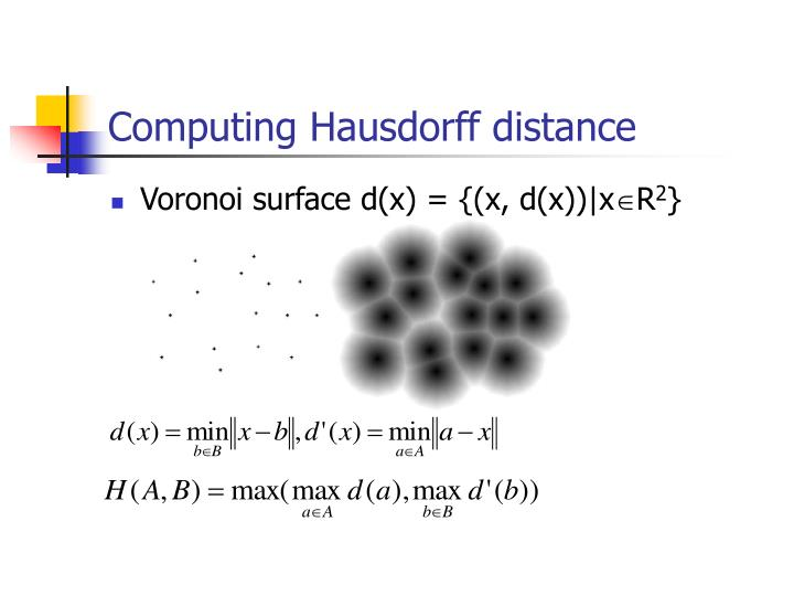 Computing Hausdorff distance