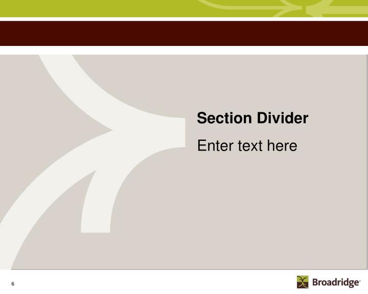 Section Divider