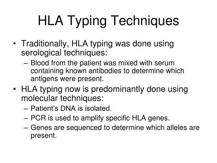 HLA Typing Techniques