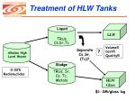 treatment of hlw tanks