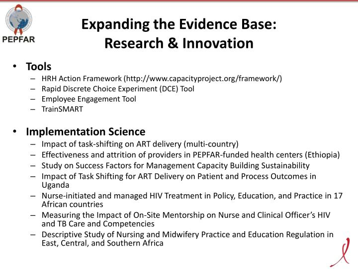 Expanding the Evidence Base: