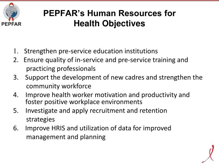 PEPFAR's Human Resources for