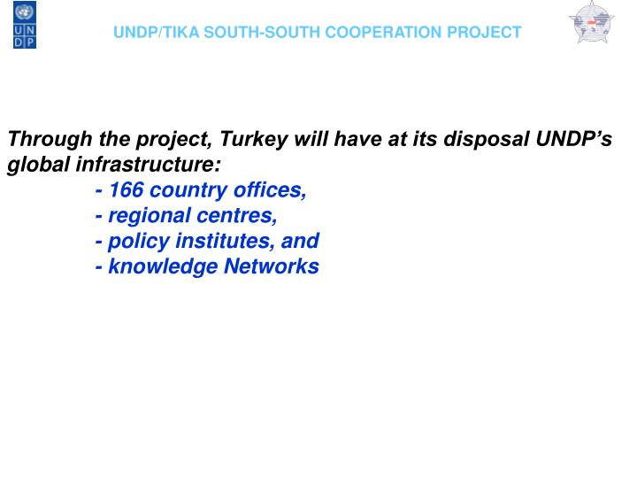 UNDP/TIKA SOUTH-SOUTH COOPERATION PROJECT