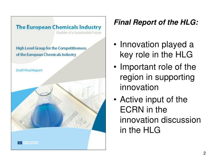 Final Report of the HLG: