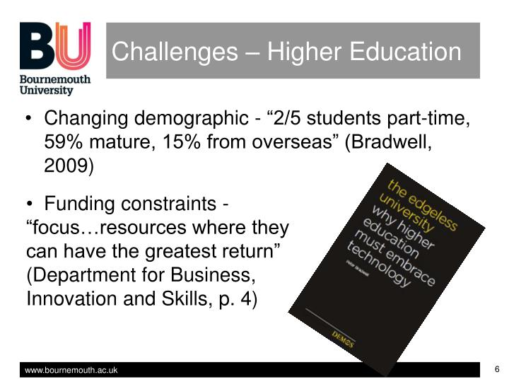 Challenges – Higher Education