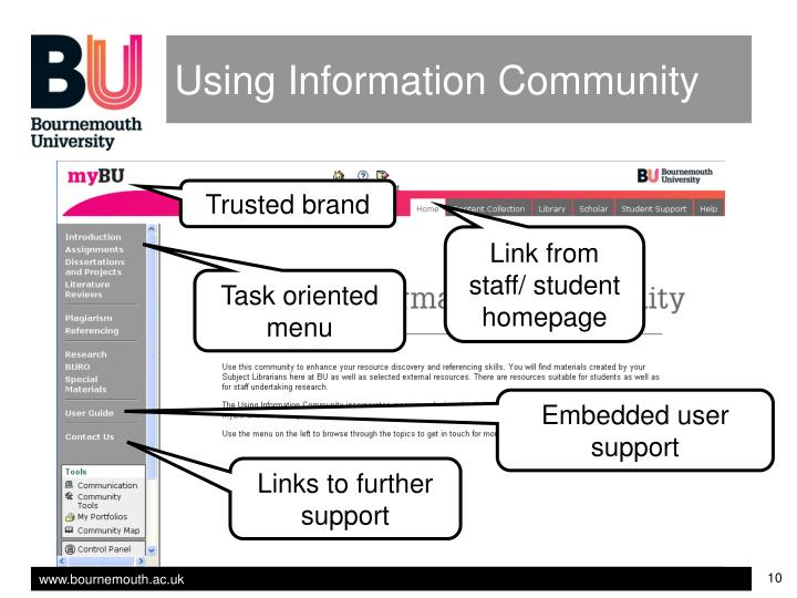 Using Information Community