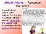 abigail adams remember the ladies