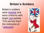 britain s soldiers