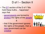d of i section ii