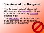 decisions of the congress