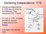 declaring independence 1776