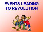 events leading to revolution
