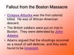 fallout from the boston massacre