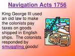 navigation acts 1756