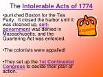 the intolerable acts of 1774
