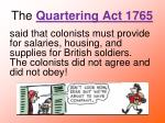 the quartering act 1765
