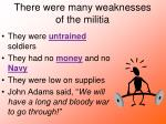 there were many weaknesses of the militia