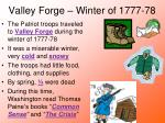 valley forge winter of 1777 78